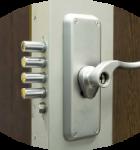 La serrure normé a2p qui protège votre appartement.